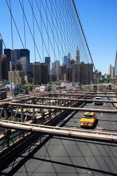 Photo stock: Manhattan · Skyline · pont · jaune · taxi · New · York · City