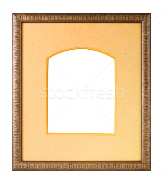 Wooden picture frame with matte Stock photo © ErickN