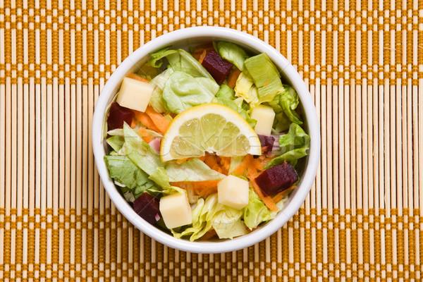 Salad closeup Stock photo © ErickN