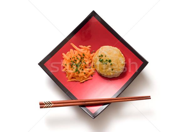 Asian posiłek mięsa pie marchew czerwony Zdjęcia stock © ErickN