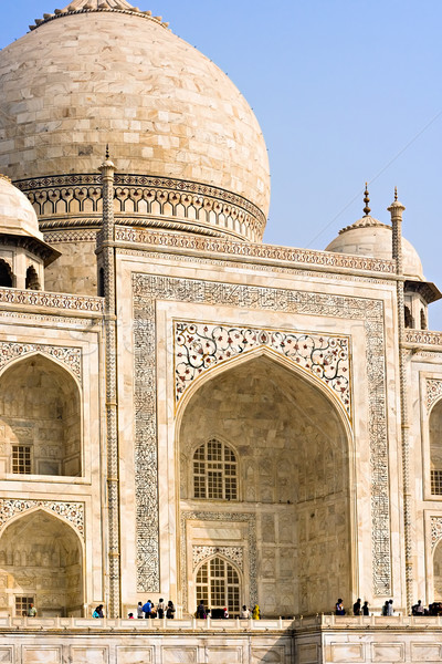 Taj Mahal dôme principale entrée mausolée bâtiment Photo stock © ErickN