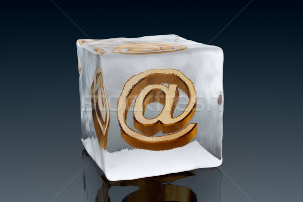 Frozen email Stock photo © ErickN