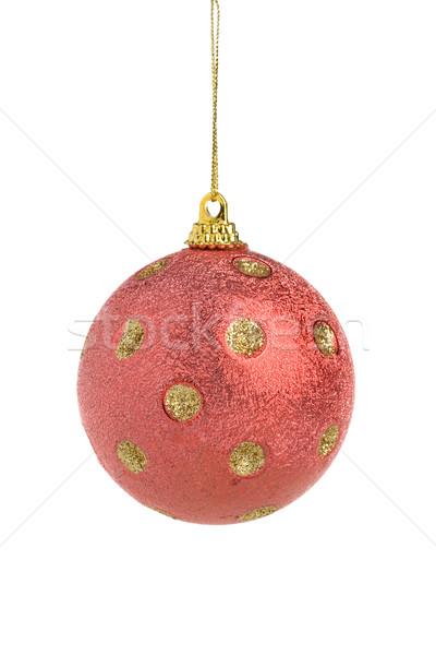 Stockfoto: Rood · christmas · bal · familie · partij · vrienden