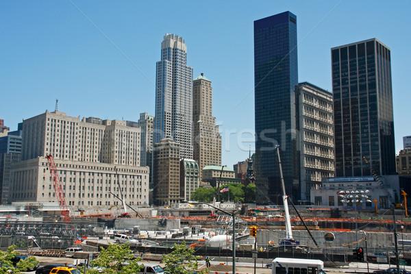 Föld nulla építkezés New York USA Stock fotó © ErickN