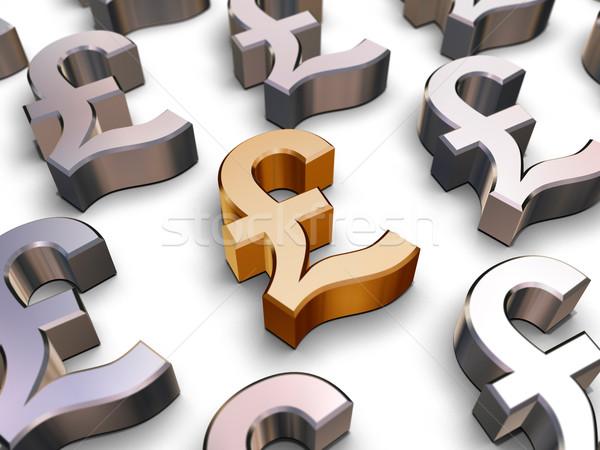 3D Sterling Pound symbols Stock photo © ErickN