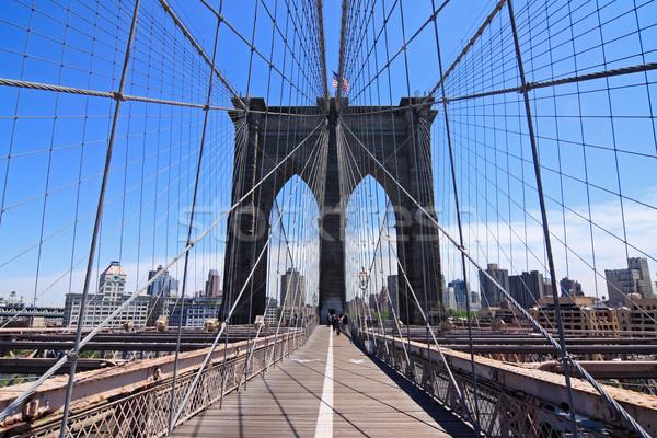 Foto stock: Puente · Nueva · York · EUA · ciudad