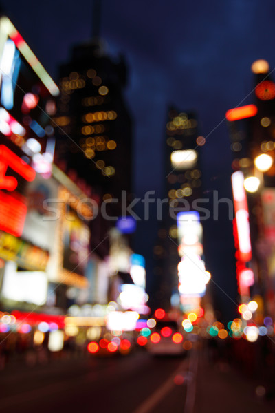 Stock photo: Times Square abstract, NYC