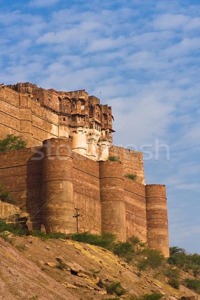 Fort ville Voyage château pierre Asie Photo stock © ErickN