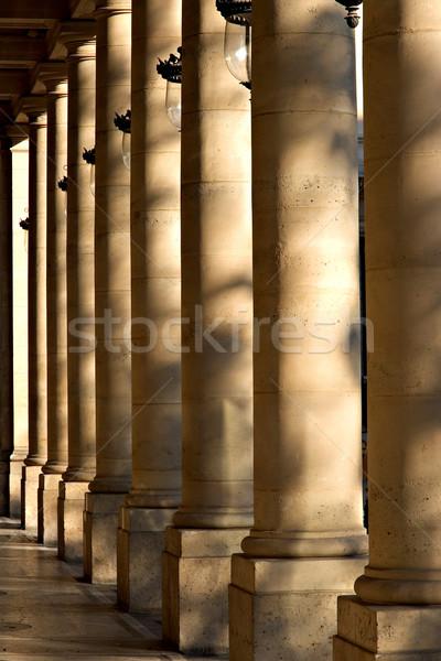 Sütunlar Paris Fransa Stok fotoğraf © ErickN