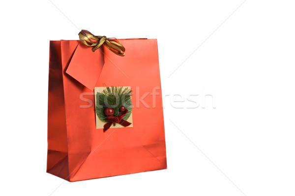 Noël cadeau décoré anniversaire sac sur Photo stock © ErickN