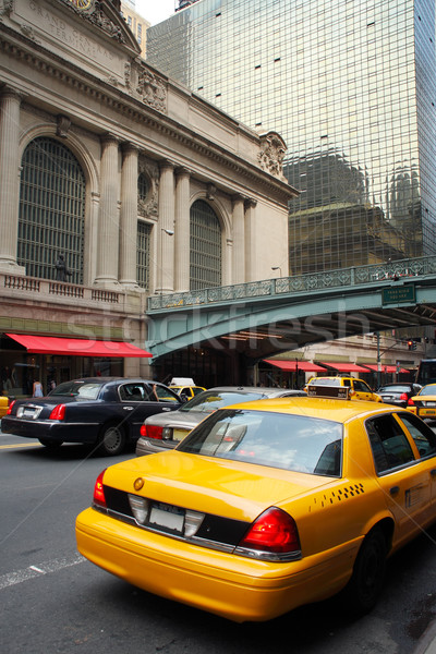 Yellow taxi at Grand Central Terminal Stock photo © ErickN