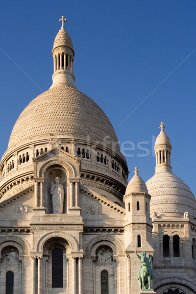 Bazilika montmartre Paris Fransa Stok fotoğraf © ErickN