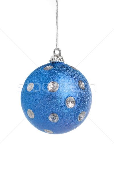 Stockfoto: Blauw · christmas · bal · familie · partij · vrienden