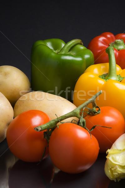 Verse groenten donkere peper aardappel dieet Stockfoto © ErickN