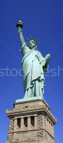 Panoramiczny posąg wolności Nowy Jork USA shot Zdjęcia stock © ErickN