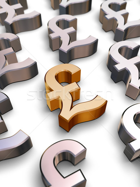 3D Sterling Pound symbols Stock photo © ErickN