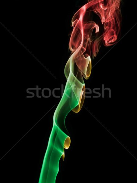 Tütsü duman dalga iz girdap dikey Stok fotoğraf © ErickN