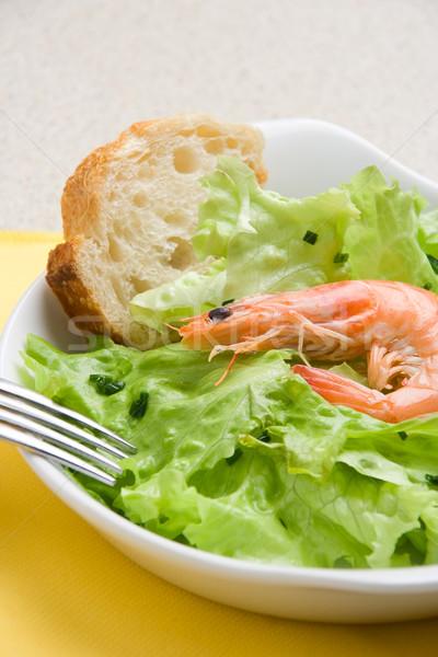 Garnalen salade citroen brood Stockfoto © ErickN