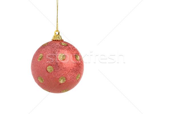 красный Рождества мяча семьи вечеринка друзей Сток-фото © ErickN