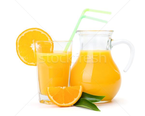 Suco de laranja vidro jarro fresco fruto beber Foto stock © erierika