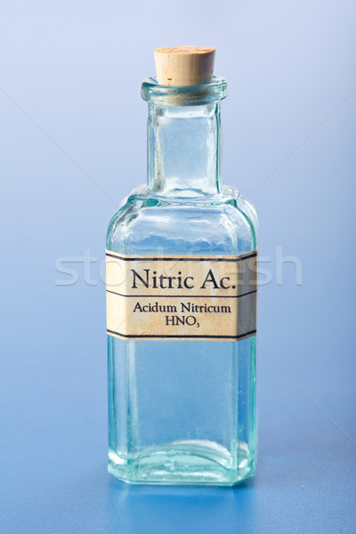 Nitric acid in small chemical bottle Stock photo © erierika