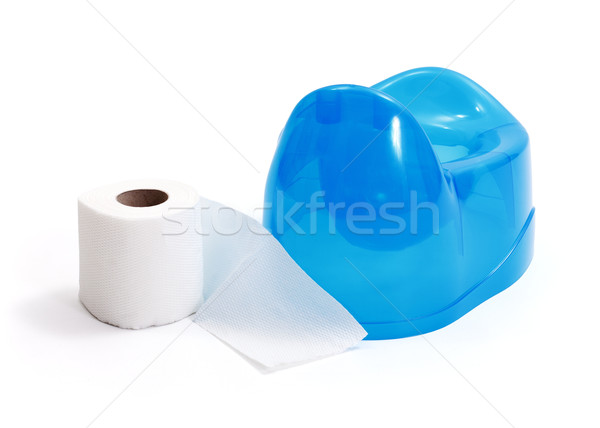 Toilet paper beside blue potty Stock photo © erierika