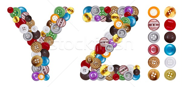 Characters Y and Z made of clothing buttons Stock photo © erierika