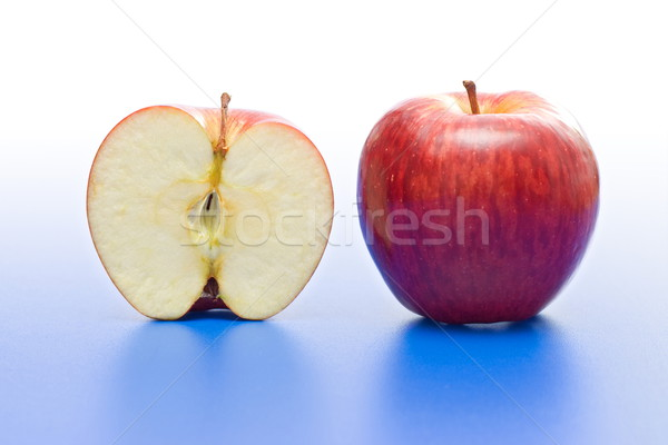 Half and whole apple Stock photo © erierika