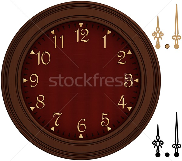 Old fashioned clock with golden numbers Stock photo © erierika