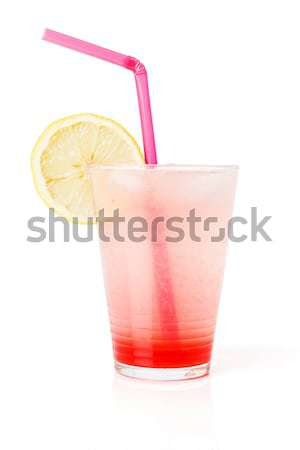 Glass lemonade with lemon slice Stock photo © erierika