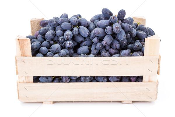 Czerwony tabeli winogron skrzynia biały Zdjęcia stock © erierika