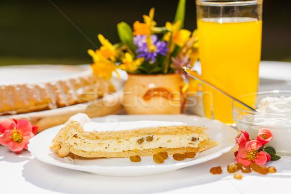 Curd cheese pie slice Stock photo © erierika