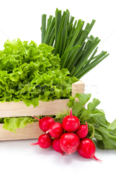 Fresh spring vegetables in crate Stock photo © erierika