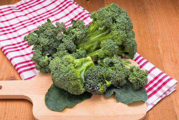 Fresh broccoli cabbage crop Stock photo © erierika