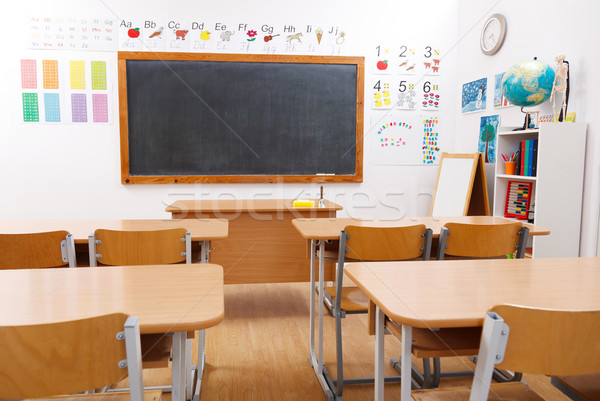 Empty class room of elementary school Stock photo © erierika