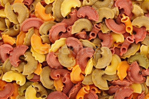 Pâtes · tricolor · italien · texture · alimentaire · modèle - photo stock © Ilka-Erika Szasz ...