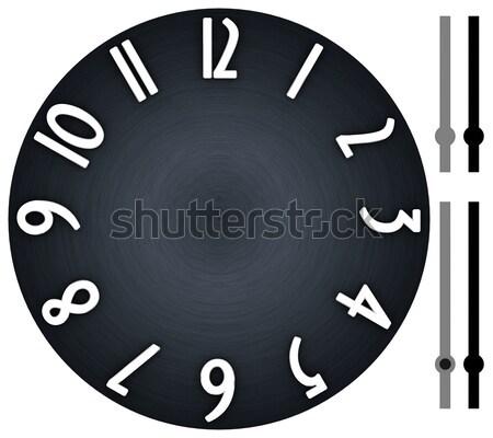 Moderno relógio escuro metal elegante estilizado Foto stock © erierika