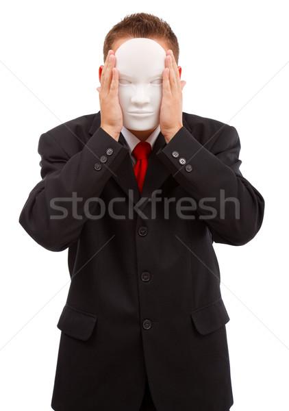 Man behind mask Stock photo © erierika