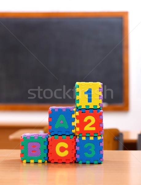 Letter and number puzzle toys Stock photo © erierika