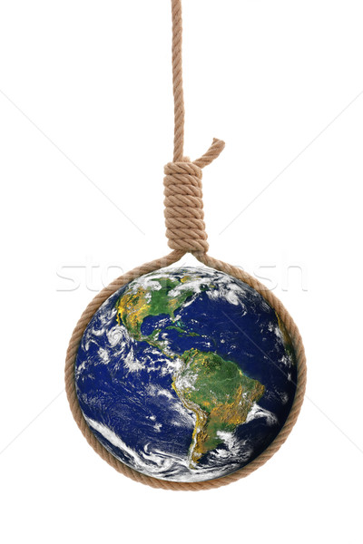 Earth in gallows rope Stock photo © erierika