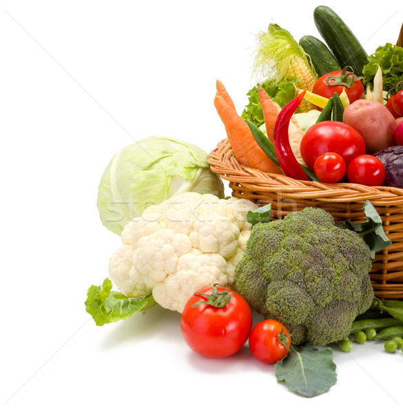 Various fresh vegetables in basket Stock photo © erierika