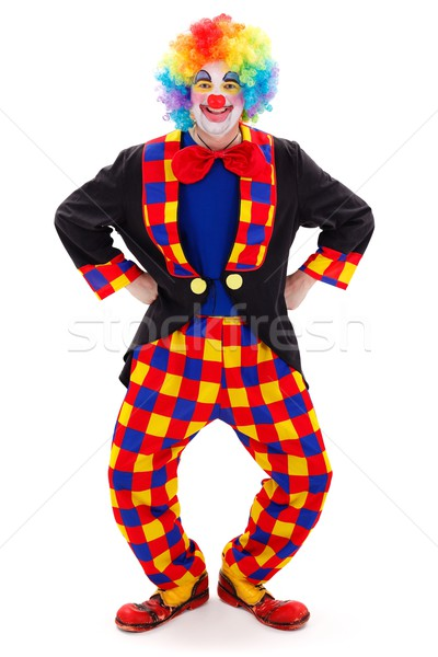 Clown in funny posture Stock photo © erierika