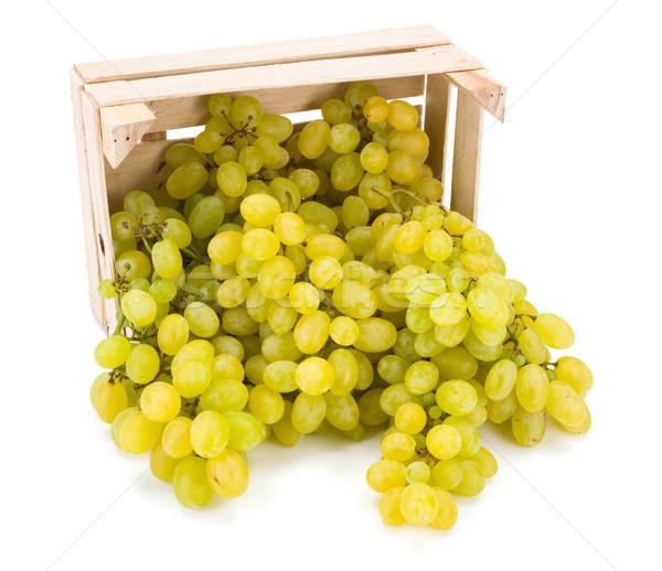 Blanco mesa uvas fuera Foto stock © erierika