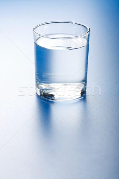 édesvíz üveg friss tiszta víz kék víz Stock fotó © erierika