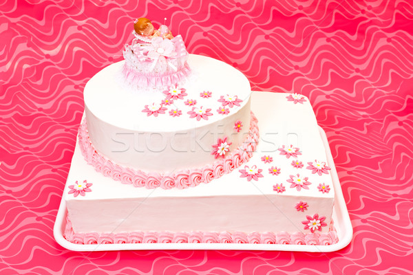 Christening cake for girl Stock photo © erierika