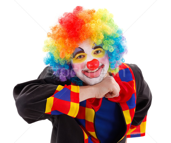Joyful clown prop in air Stock photo © erierika