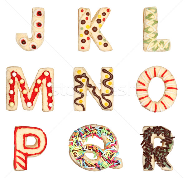 Letters J to R from decorated cookies  Stock photo © erierika