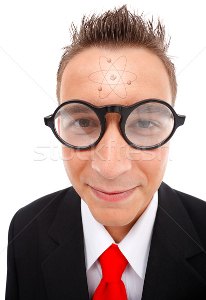átomo cabeça ver estudante Foto stock © erierika