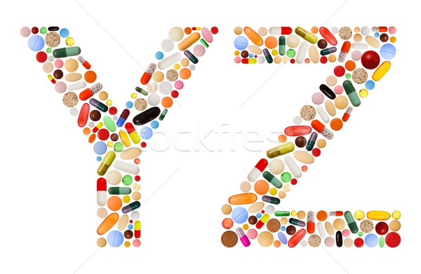 Characters Y and Z made of colorful pills Stock photo © erierika