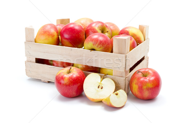 Ripe apples in wooden carte Stock photo © erierika